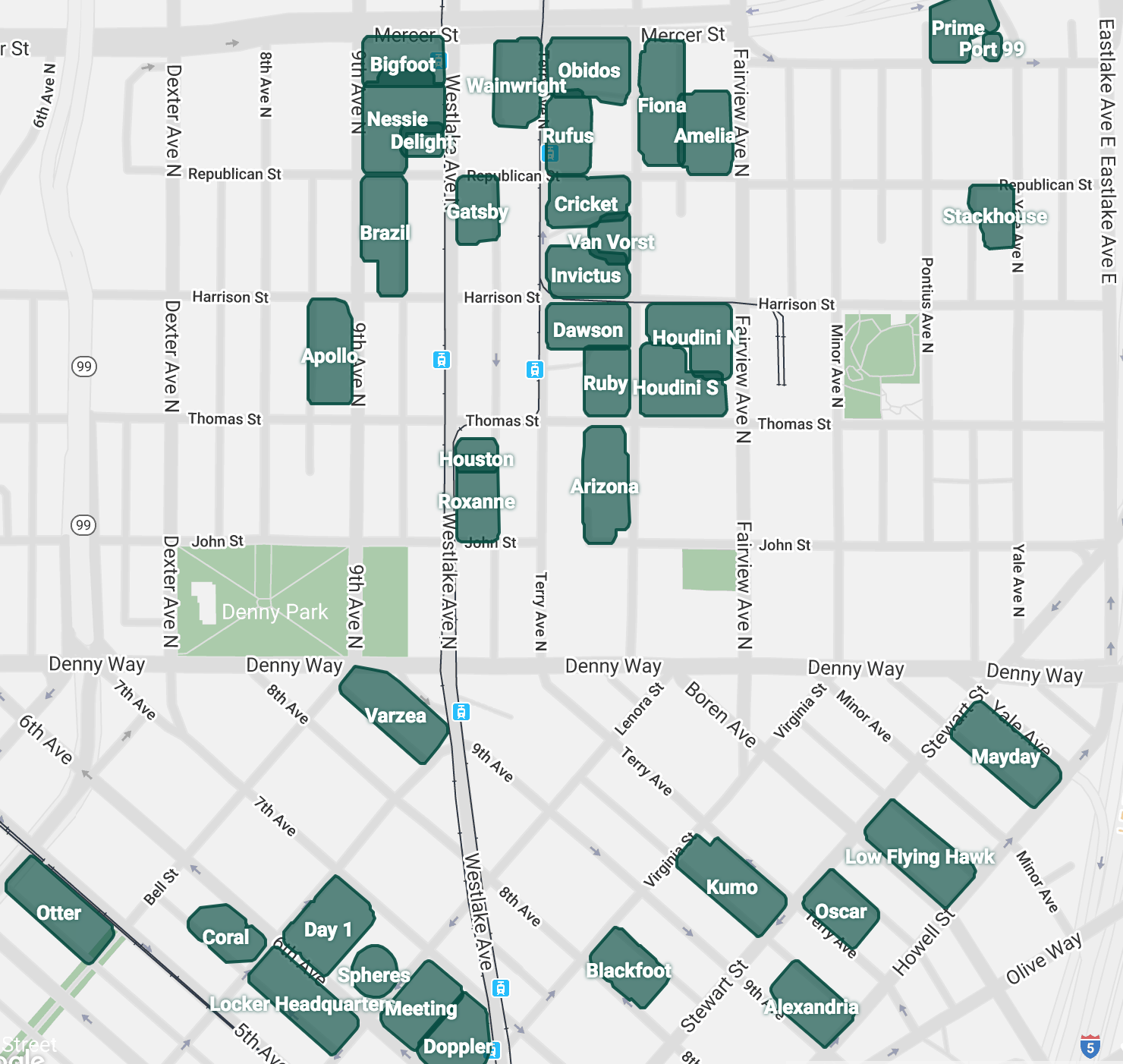 Amazon Seattle Downtown Main Campus map image